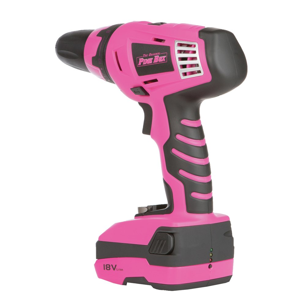 The Original Pink Box PB18VLI 18-volt Lithium Ion Cordless Drill by The Original Pink Box