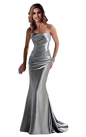 YAXIU Evening Dresses for Women Formal Elegant Mermaid Sweetheart Glitter Long Cocktail Party Plus Size
