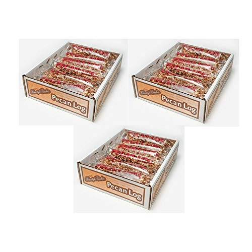 - Pecan Logs Rolls - Crown Candy (12 Individually Wrapped 2.5 oz Pecan Logs Per Box) (4 Pack)