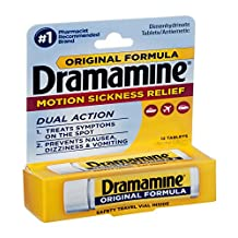Dramamine Original Formula Motion Sickness Relief Tablets , 12 CT (Pack of 6)