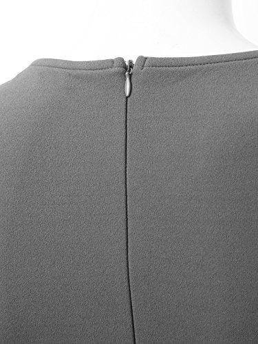 Jayjay Femmes Portent Au Travail Jupe Robe Wrap Crayon De Cocktail Sans Manches D'affaires Mince Jwdm537qn_gray