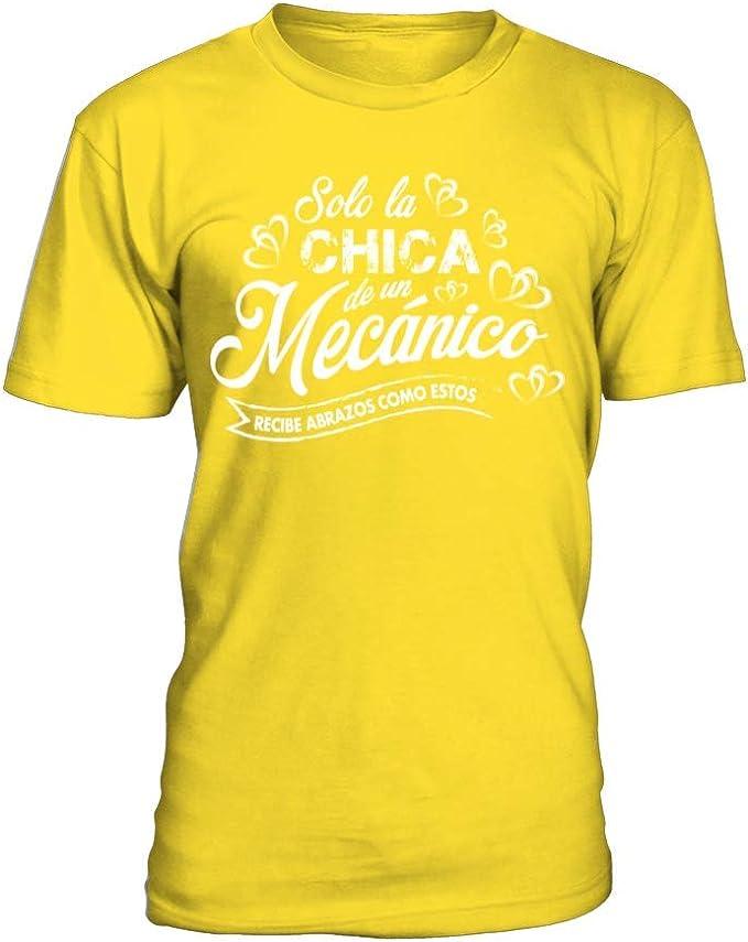 Camiseta Hombre Solo la Chica de un mecánico. - Amarillo - M: Amazon.es: Ropa y accesorios