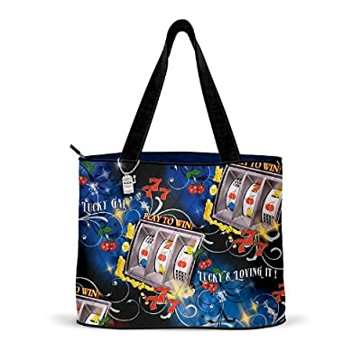 Lady Luck Slot Machine Tote Bag by The Bradford Exchange
