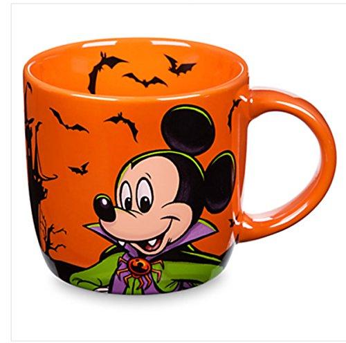 Disney Parks Mickey Mouse Vampire Halloween Ceramic Coffe Mug Boo To You New