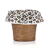 DESIGNERLINERS Black Leopard Luxury Wastebasket Bags - Designer Home Accessory- 10 Pack - 7 Gallons - 21'' x 24''