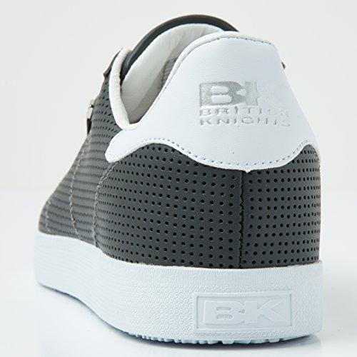 British Knights Point Herren Halbschuh Sneaker DUNKELGRAU/WEISS