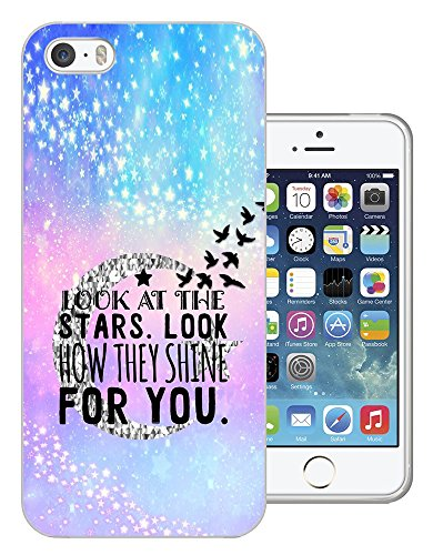 003024 - Look At The Stars Look How They Shine For You Quote Design iphone 4 4S Fashion Trend CASE Gel Rubber Silicone All Edges Protection Case Cover