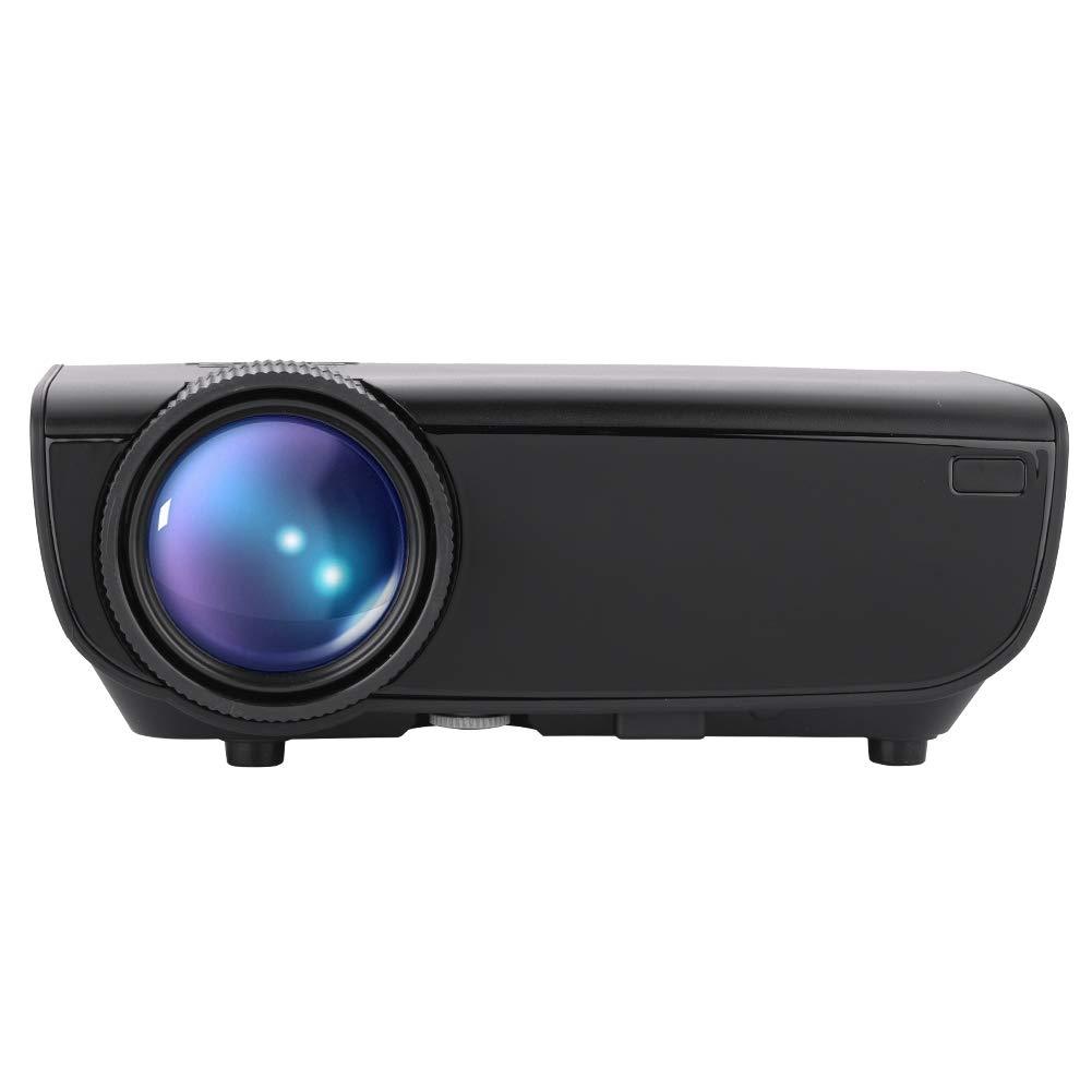 Richer-R ビデオプロジェクター 映画LEDプロジェクター フルHD 1080Pホームシアタープロジェクター リモコン付き サポートワイヤレス電話ミラーリング 1000:1コントラスト比 AV/USB/SDカード/HDMI入力(ブラック) B07N8JVP4W ブラック