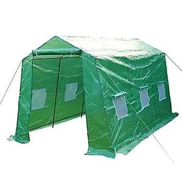 HOMCOM - Invernadero caseta 350x200x200 acero y plastico jardin terraza cultivo plantas: Amazon.es: Hogar