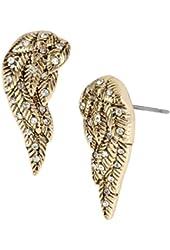 Betsey Johnson Heaven Sent Crystal Wings Stud Earrings