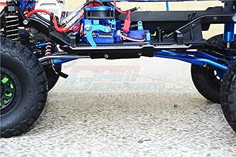 GPM Traxxas TRX-4 Trail Defender Crawler Upgrade Parts Aluminium Adjustable Suspension Links - 6Pc Set Red