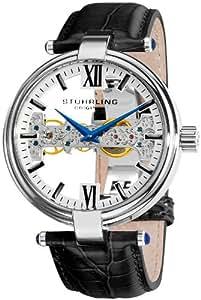 Stuhrling Original Men's 330.33152 Emperor Royal Scepter Mechanical Skeleton Silver Dial Watch