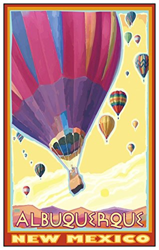 Albuquerque New Mexico Hot Air Balloons Travel Art Print Poster by Joanne Kollman (12