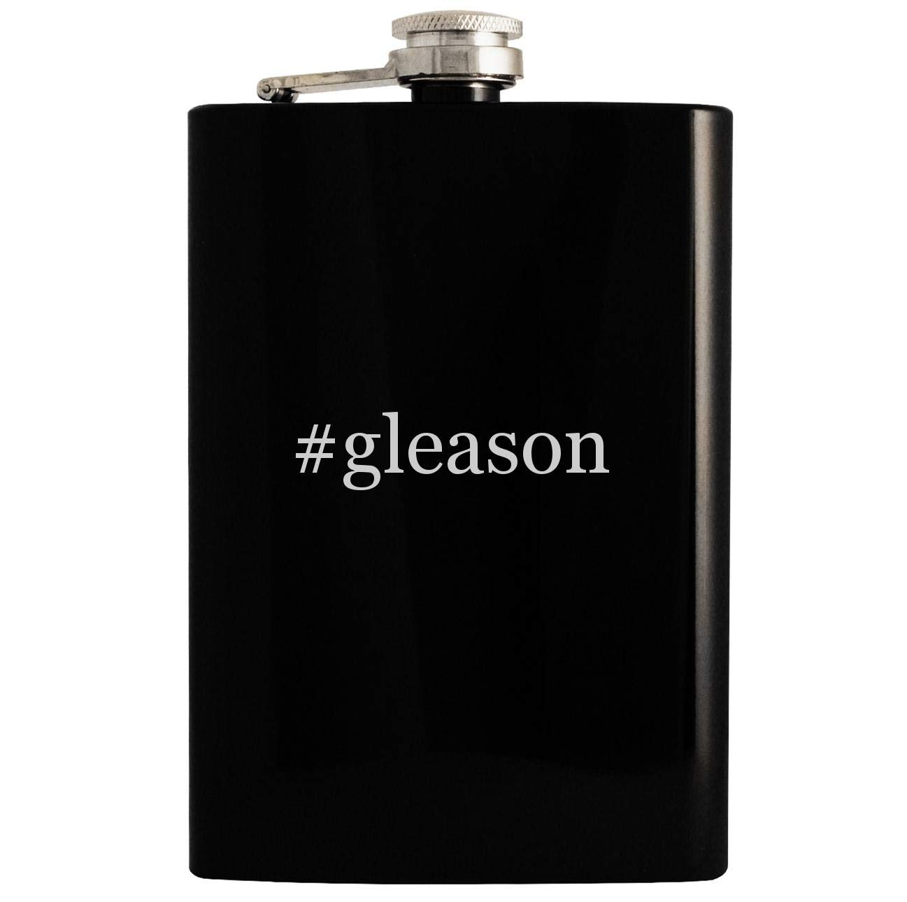 #gleason - 8oz Hashtag Hip Drinking Alcohol Flask, Black