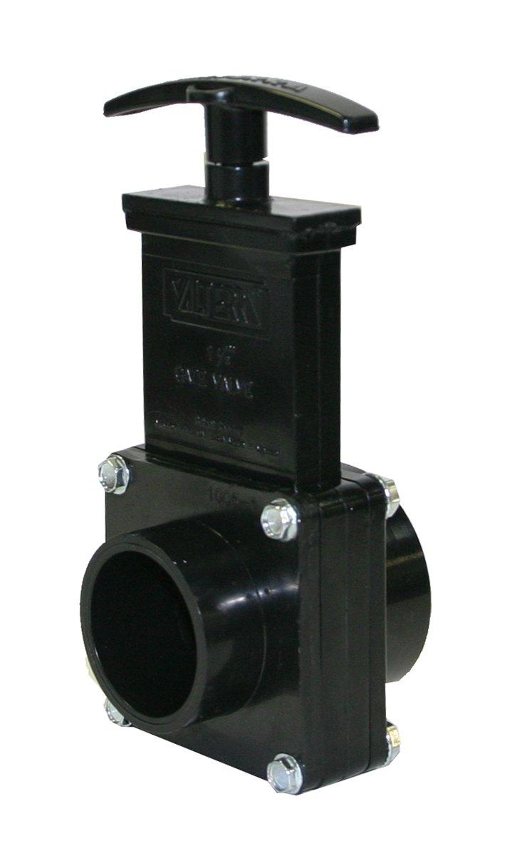 Black Valterra 7102 ABS Gate Valve 1-1//2 Slip x Spig