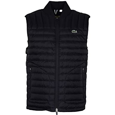 ae4a069d0 Lacoste BH9645 Quilted Lightweight Black Gilet 48 Black  Amazon.co.uk   Clothing