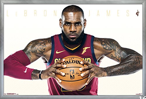 Framed Cavaliers Wall (Trends International Cleveland Cavaliers-Lebron James Wall Poster, 24.25