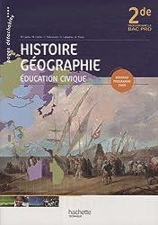 Histoire géographie éducation civique 2de professionnelle