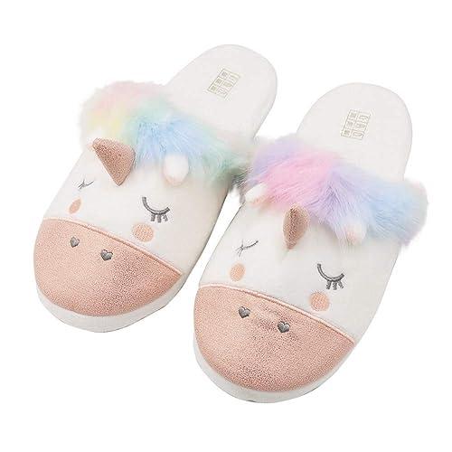 bae4c3096dd Women s Plush Unicorn Slippers