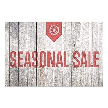Nautical Wood Window Cling CGSignLab 5-Pack 30x20 Seasonal Sale