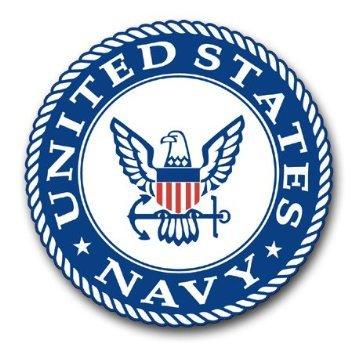 US Navy Emblem Decal Sticker 3.8