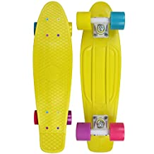 "PENNY Skateboard Plastic Cruiser Complete 22"" CANDY COATED YELLOW"