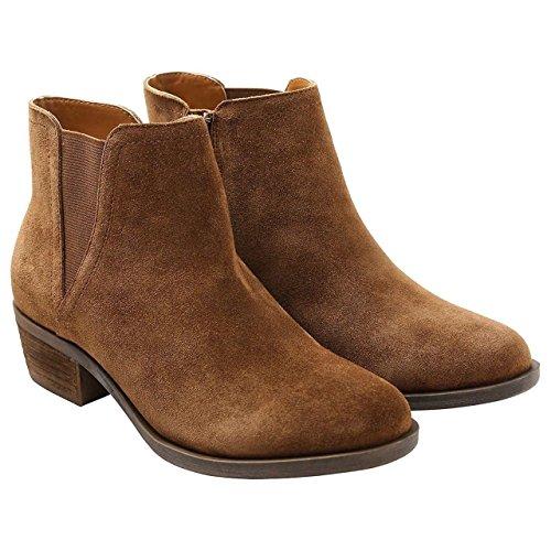 kensie Womens Garrett (Garry) Ankle Boots-Brown, Sz 9.5