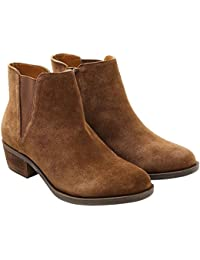 Womens Garrett (Garry) Ankle Boots-Brown