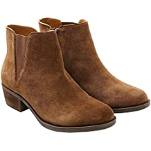 kensie Womens Garrett (Garry) Ankle Boots-Brown