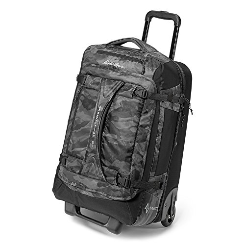 Price comparison product image Eddie Bauer Unisex-Adult Expedition Drop Bottom Rolling Duffel - Medium, Dk Smok