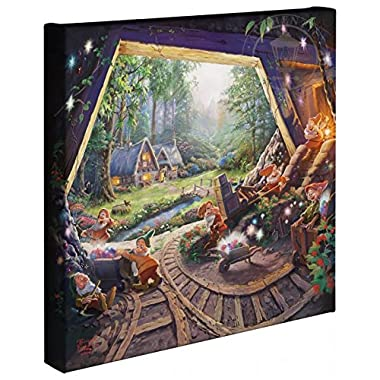 Thomas Kinkade - Gallery Wrapped Canvas , Snow White and the Seven Dwarfs , 14  x 14  , 67811