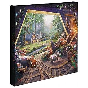 Thomas Kinkade – Gallery Wrapped Canvas , Snow White and the Seven Dwarfs , 14″ x 14″ , 67811
