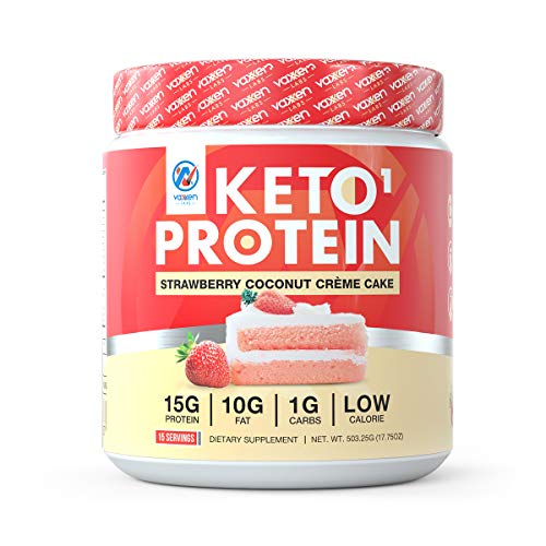 Vaxxen Labs Keto Whey Protein Powder Blend Strawberry Coconut