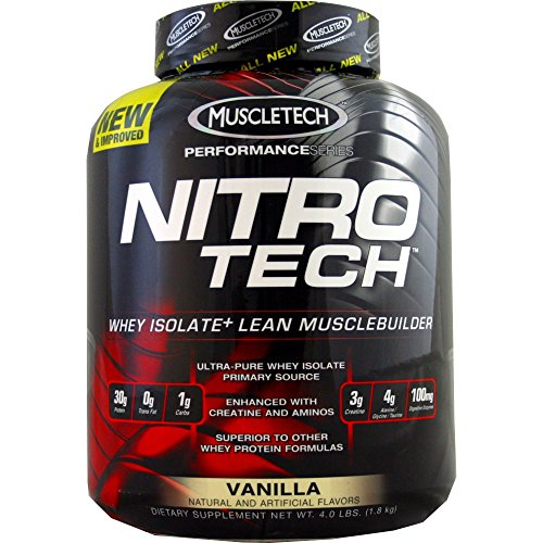 MuscleTech Nitro-Tech Performance Series, Vanilla, 4 lbs ( 5-Pack) by MuscleTech