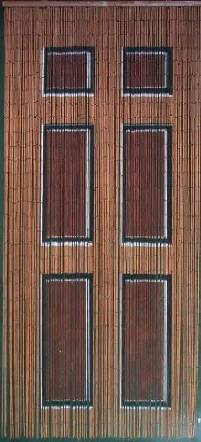 ABeadedCurtain 125 String Wooden Door Beaded Curtain 38 More Strands Handmade with 4000 Beads Hanging Hardware