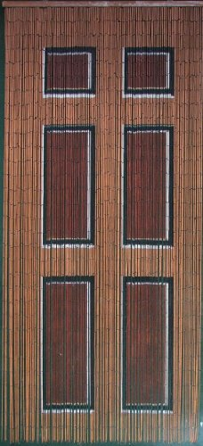 Wooden Door Beaded Curtain 125 Strands (+hanging hardware)