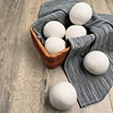 SORMAG Wool Dryer Balls Organic,Laundry Wool Balls for Dryer Premium Reusable All Natural Fabric Softener Best Gift 100% Handmade Pure Wool 6XL Eco Alternative to Drying Sheets