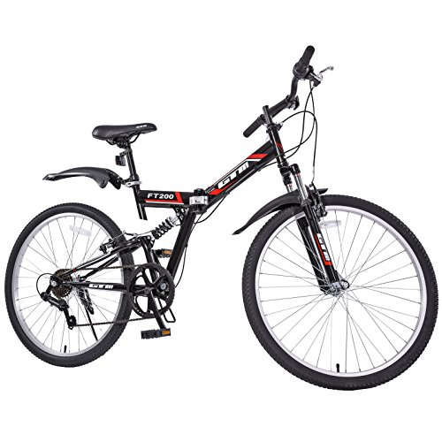 Best price for Gracelove 26″ Folding Mountain Bicycle 7-Speed Shimano Folding Bike Sport Fold (Black)