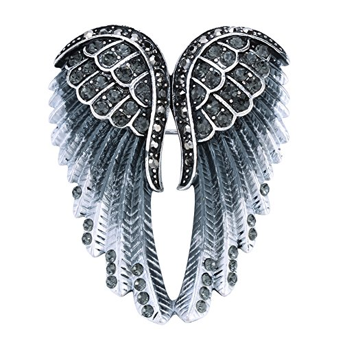 Hiddlston Crystal Guardian Angel Wing Jewelry Custom Brooch Pins For Women -