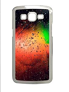 Glass Rain Colorful PC Case Cover for Samsung Grand 2 and Samsung Grand 7106 Transparent