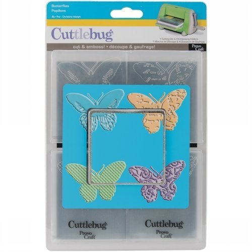 Provo Craft Cuttlebug A2 Tag Team Dies, Butterflies, 4 Styles ()
