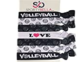 Volleyball Hair Accessories, Volleyball Hair Ties, No Crease Volleyball Hair Elastics Set