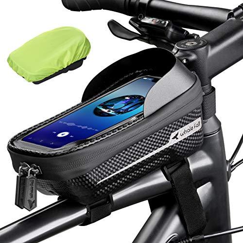 whale fall Waterproof Bike Frame Bag Bike Phone Bag Bicycle Cell Phone Holder for GPS – Bicycle Bag Frame Hard Eva Navi…