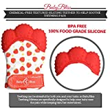 Teething Mittens (Pack of 2) | Self-Soothing Unisex Teether Toys | Hypoallergenic Teething Glove for Boys and Girls | BPA-Free, Food-Grade Silicone Mitt | With Storage & Laundry Bag | Baby Shower Gift