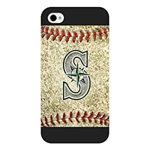 ArtPopTart iPhone 4 4S Case,Fashion MLB Seattle Mariners iPhone 4 4S Case [Black Frosted Hardshell],Coolest 2015 Cell Phone Case