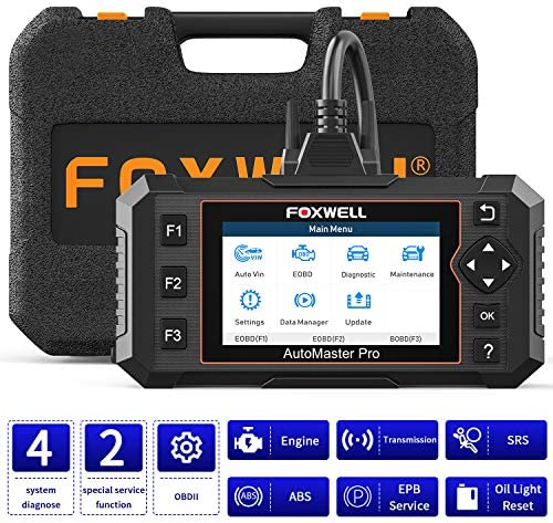 FOXWELL NT614 Elite Automotive OBD2 Scanner, ABS/SRS/Engine/Transmission Diagnostic Instrument with Oil Mild&EPB Reset, Test Engine Code Reader, Airbag SRS Automotive Scanner Diagnostic for All Vehicles[2021 New Version]