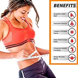 ACF Waist Trimmer Ab Belt for Men and Women - Extra Wide to Cover Entire Midsection - Uniquely Designed to Repel Sweat & Moisture w/ Anti-Slip Grid Technology - No Slipping or Movement of Fabric