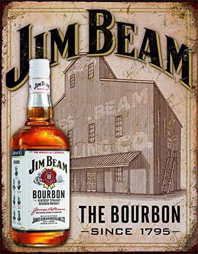 Desperate Enterprises Jim Beam - Still House Tin Sign, 12.5