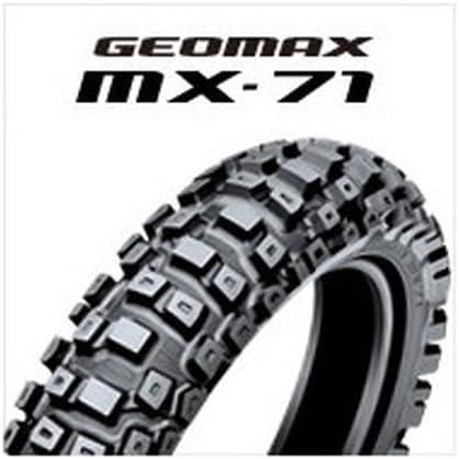 DUNLOP(ダンロップ)バイクタイヤ GEOMAX MX71 リア 120/80-19 63M チューブタイプ(WT) [公道走行不可] 304409 二輪 オートバイ用