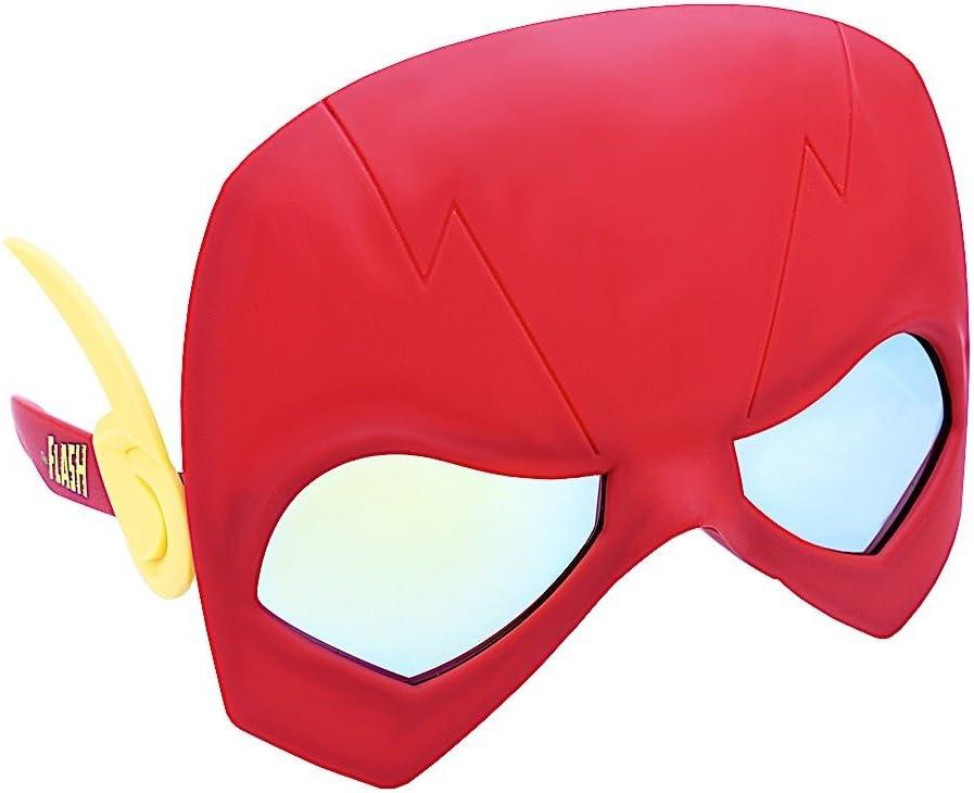 DC MARVEL SUPERHERO COSTUME GLASSES MASK SUN-STACHES SPIDERMAN FLASH